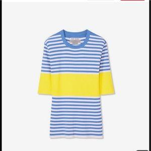 Tory Sport Tech-Knit Short Sleeve Sweater NWT  M